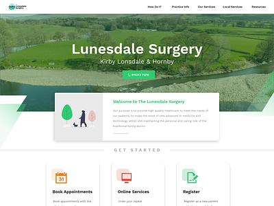The Lunesdale Surgery | GP Surgery Website Build figma xd design ui clean minimalist complaints procedure texture doctors resume family countryside green medicine medical gp doctors