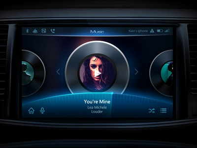 Car UI Design-Two 2016 ui design car media car ui ui