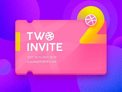 2-INVITE member player dribbble invit