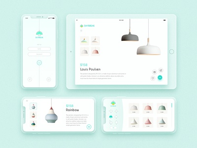 Light Up Your Life app light design ux ui minimalist