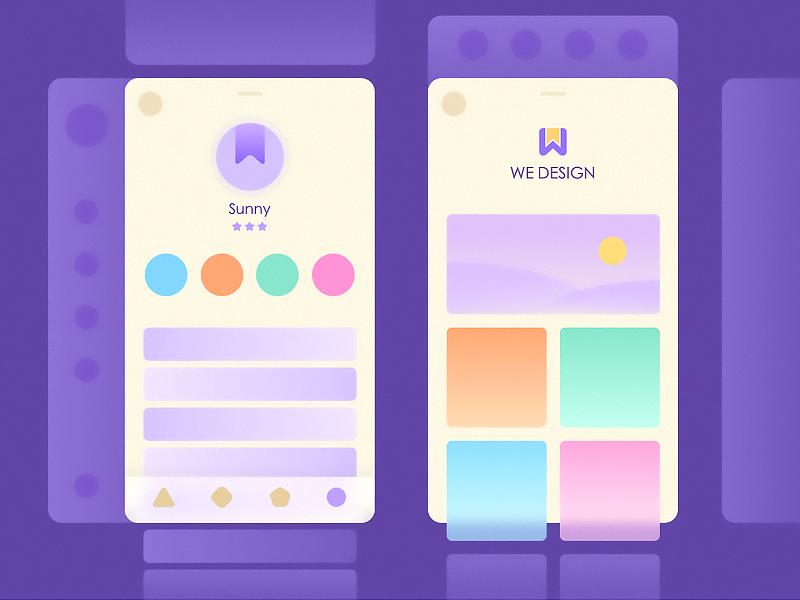 Try violet in UI design try design ui color fashion