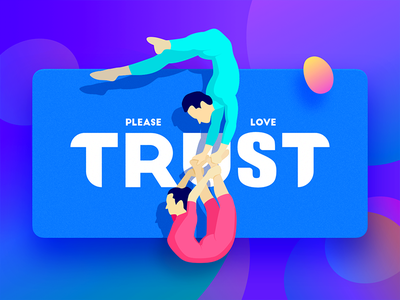 Trust please trust love color illustration