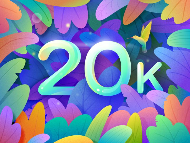 B&B 20000+ Fans - Thanks! color illustration congratulations bb team 20k