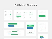 Fat bold elements real pixels