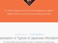 Personal Blog - 2014