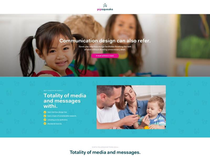 Child Care Landing Page ui design landing page design conversion rate optimization conversion design landing page