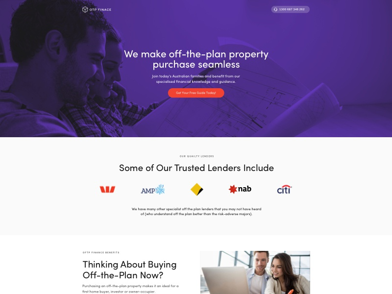 OTP Finance Landing Page finance landing page landing page conversion design conversion rate optimization landing page design