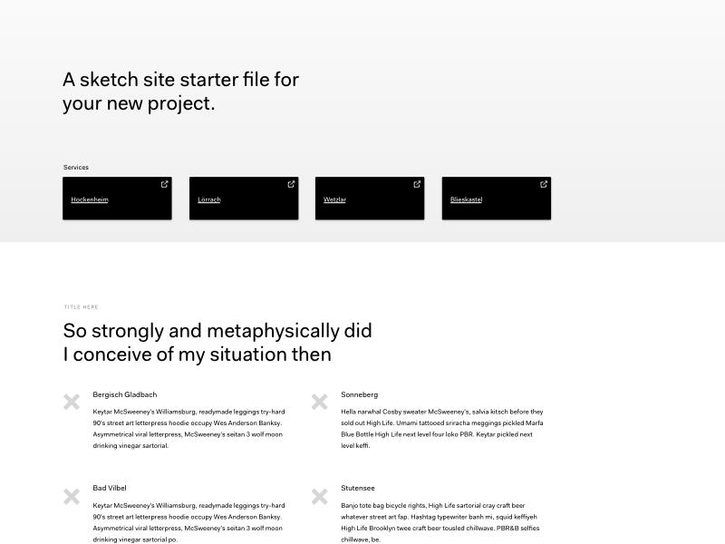 Free Sketch Site Starter File wireframe design file free sketch file site starter free