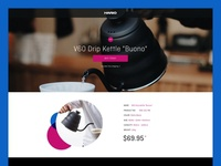 "HARIO V60 Drip Kettle ""Buono"" Landing Page"