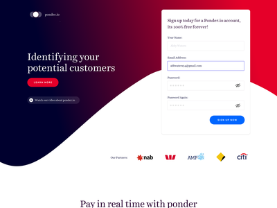 UI - Startup Hero melbourne ui melbourne white landing page conversion design landing page design 100 daily ui 100days homepage hero