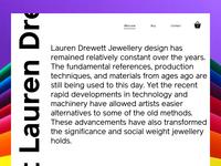 Site Concept - Lauren Drewett Jewellery