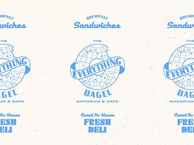 Logo Challenge Day 8 - Bagel Store vector logo branding fun design colorful retro illustration 2d