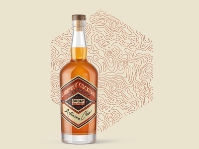 Carryout Cocktail Label design beverage alcohol label spirits liquor