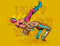 IDW Submission indydesignweek action procreate wrestling luchador illustration