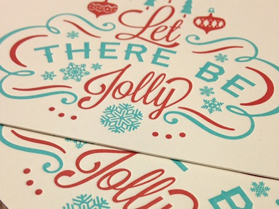 Let There Be Jolly - Letterpressed Card letterpress christmas snow