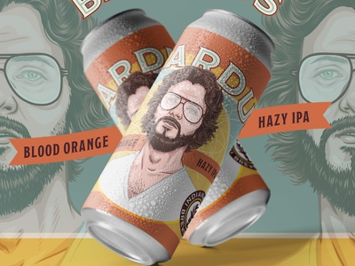 Beardus - Indiana City Brewing Label brewing retro vintage portrait illustration portrait labeldesign label beer