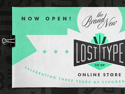 New Lost Type Store Header design