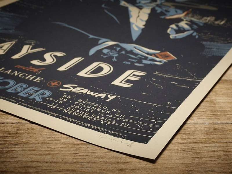 Bayside Tour Poster - Now Available screen print illustration gig poster print portrait