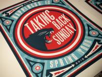 Spring Tour Poster for Taking Back Sunday