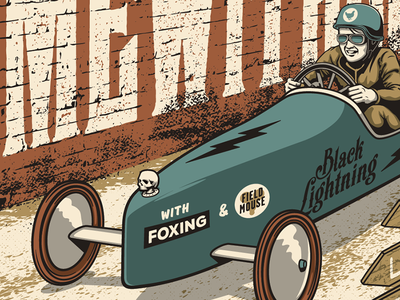 Gig Poster Preview racing car derby soapbox poster screen print gig poster portrait illustration