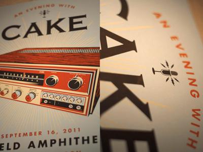 CAKE - Portland - Gig Poster screen print gig poster stereo