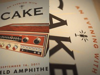 CAKE - Portland - Gig Poster