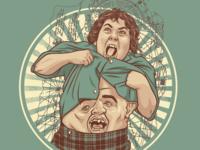 Chunk / Sloth Mashup Illustration