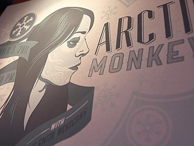 Arctic Monkeys Gig Poster - Color version 2 color2 screen print poster illustration portrait
