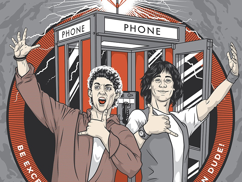 Bill ted dribbble