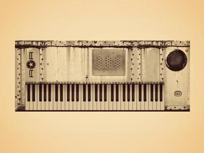 American Analog - Industrial Set keyboard photo illustration design branding icon