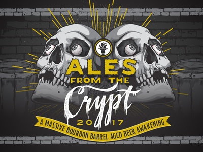 Indiana City Beer Art - Ales From the Crypt