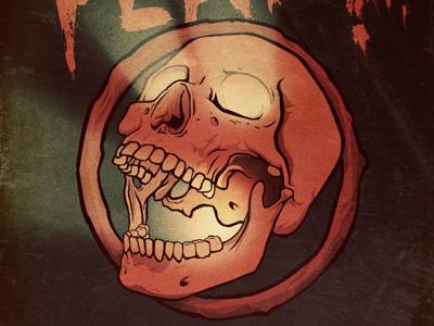 Skull Update illustration gig poster skull