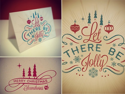Let There Be Jolly design typography screen print