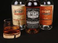 8th Day Distillery Labels