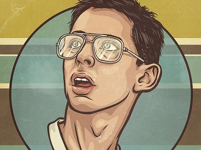 Bill Haverchuck geek nerd glasses 80s illustration portrait pop freaks and geeks