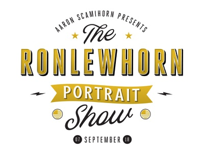 Ronlewhorn Portrait Show Branding portrait promotion self promo art logo