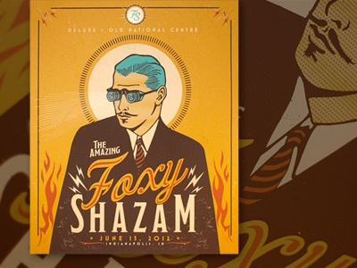 Foxy Shazam Gig Poster illustration gig poster screen print