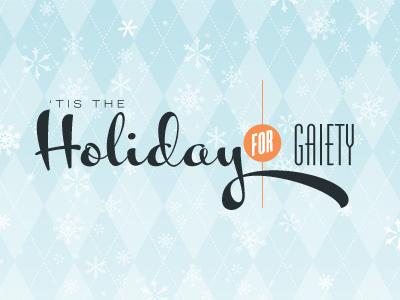 Holiday Dribble christmas retro snowflakes argyle