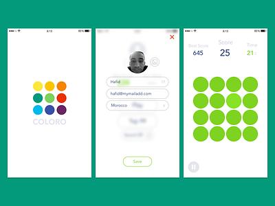 COLORO 'Color Game' sketch design ui logo color