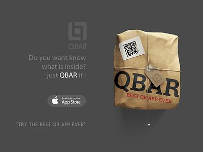 QBar App Landing Page ux ui sketch store landing lp app qr