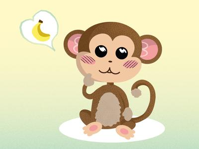 Monkeys & Bananas Part II vector monkey illustration fun doodle banana