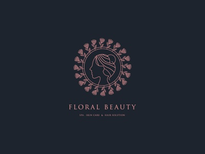 Floral Beauty Logo Design modern logo illustration minimalist logo lineart eye catching logo monogram branding design logodesign brand identity branding hair salon hairstyle minimalist modern flower spa design logo beauty floral