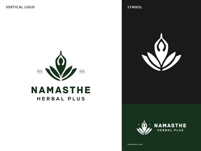Namaste H P Logo logo inspiration logo ideas graphic design eye catching logo lineart branding design brand identity branding meditation logo feminine logo spa logo herbal logo minimalist logo clever logo modern logo design logo yoga logo