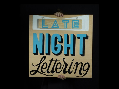 Late Night Lettering