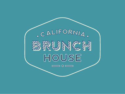 California Brunch House typography texture sketch handlettering type lettering stamp black brand logo