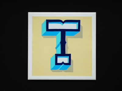 Hand Painted Letter T