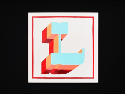 Hand Painted Letter L