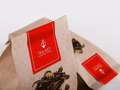 Tea Key Infusions identity design logo icon
