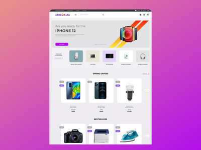 Online Shop for Electronics (ecommerce) app 3d dailyui webdesign electronic trend product page shot shopping online store online shop shop ecommerce website ecommerce design ecommerce app