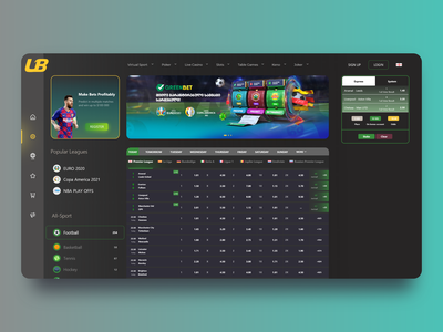 #Betting Webdesign categories category sidebar logo 3d app dailyui bet profile ticket statistics dashboard bets bookmakers football betting sport